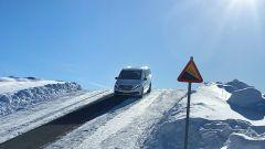 Mercedes EQV: le prove in Svezia, tra neve e ghiaccio