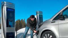 Mercedes EQV: verificata anche la ricarica in condizioni ambientali difficili