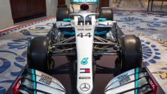 Mercedes F1, la nuova livrea 2020 con inserti rossi Ineos