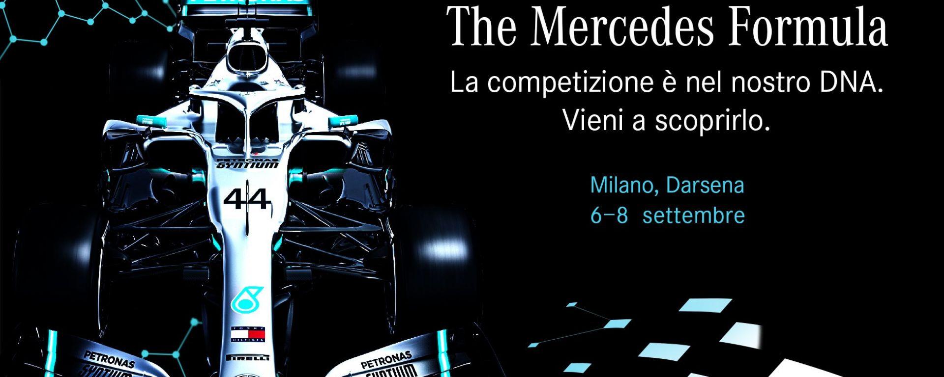 Mercedes Formula: l'evento sui Navigli per il GP di Monza