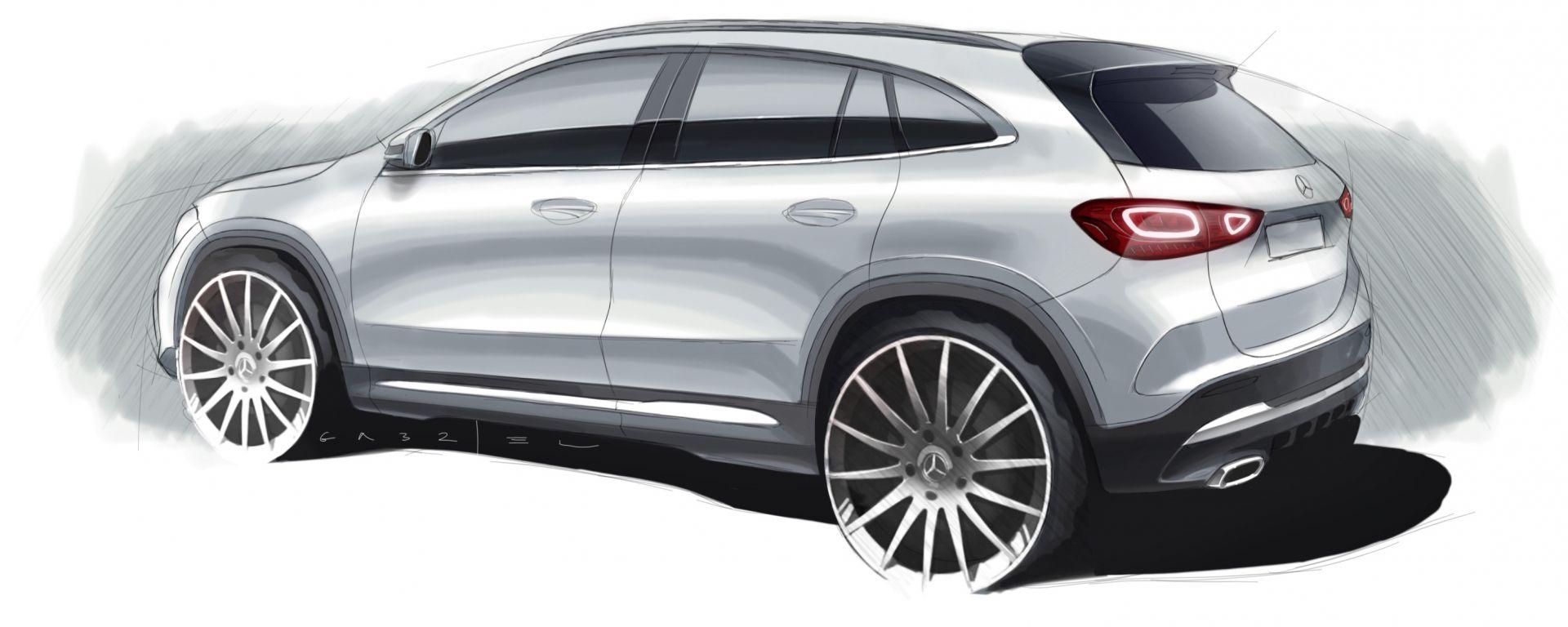 Mercedes GLA 2020, un teaser prima della world premiere