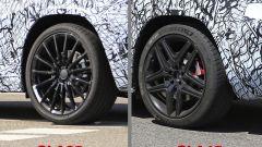 Mercedes GLA AMG: la differenza dei cerchi, GLA35 AMG a dx, GLA45 AMG a sx