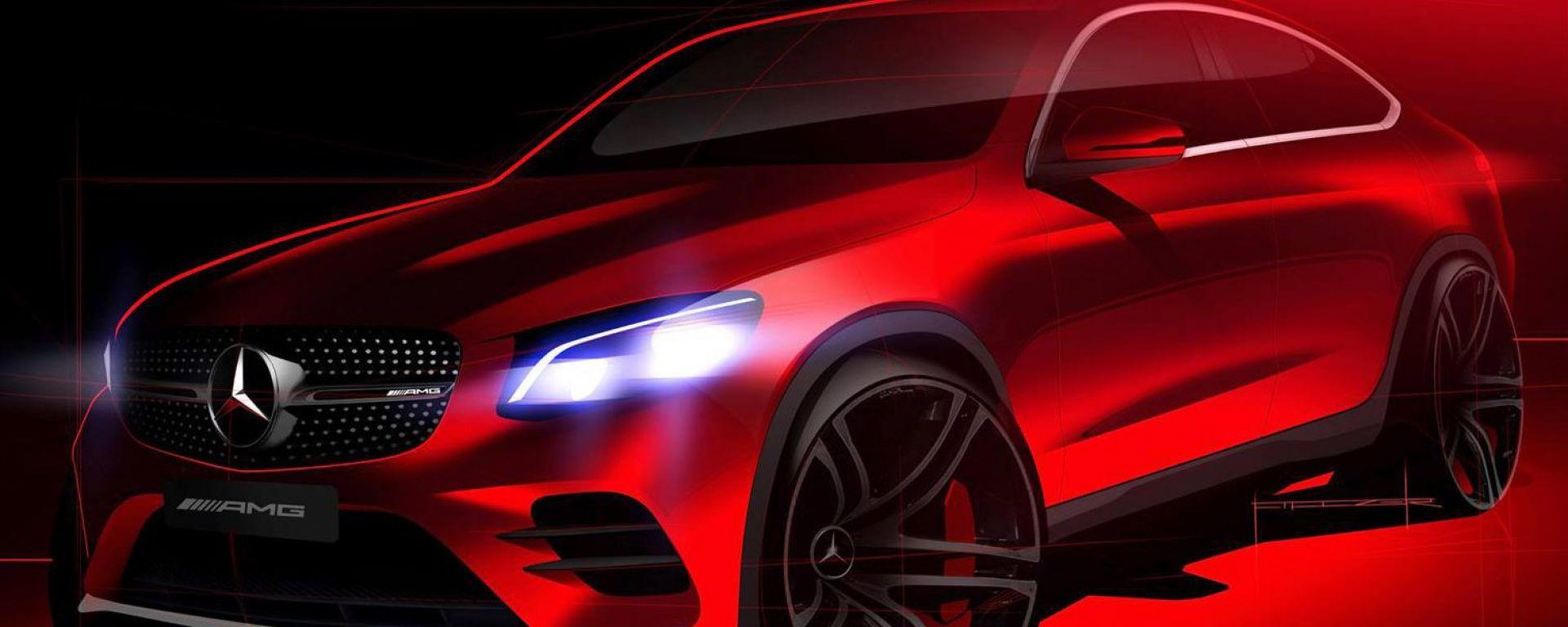 Mercedes GLC Coupé: un altro teaser