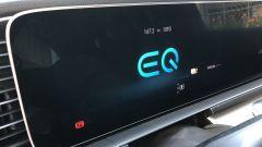 Mercedes GLE 350 de 4Matic: il display con il logo delle Mercedes elettrificate