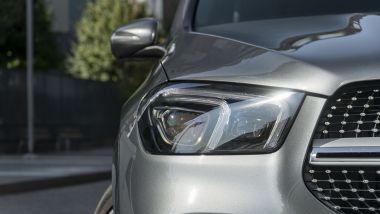 Mercedes GLE 350de EQ POWER 4MATIC, il faro anteriore