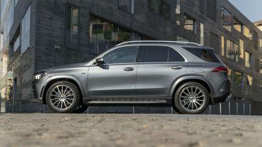 Mercedes GLE 350de EQ POWER 4MATIC, vista laterale: il Cx è 0,29