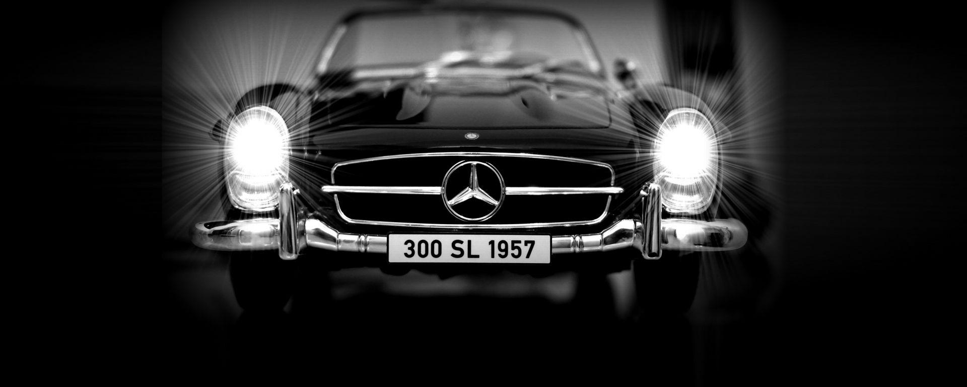 Mercedes SL 300 Cabrio, il frontale