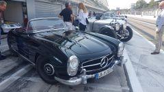 Mercedes SL Roadster al rally regolarità Passione Caracciola - Autodromo Monza