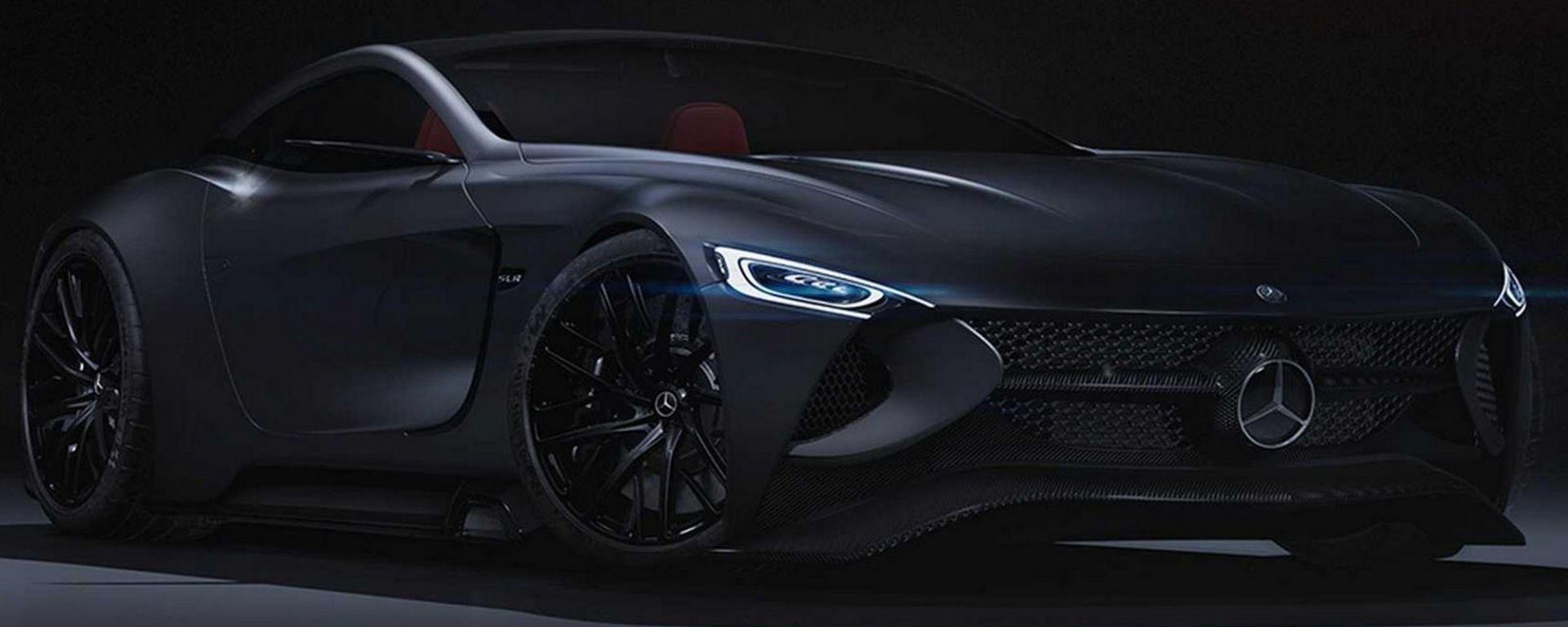 Mercedes SLR Vision Concept: un'erede (virtuale) per la SLR McLaren