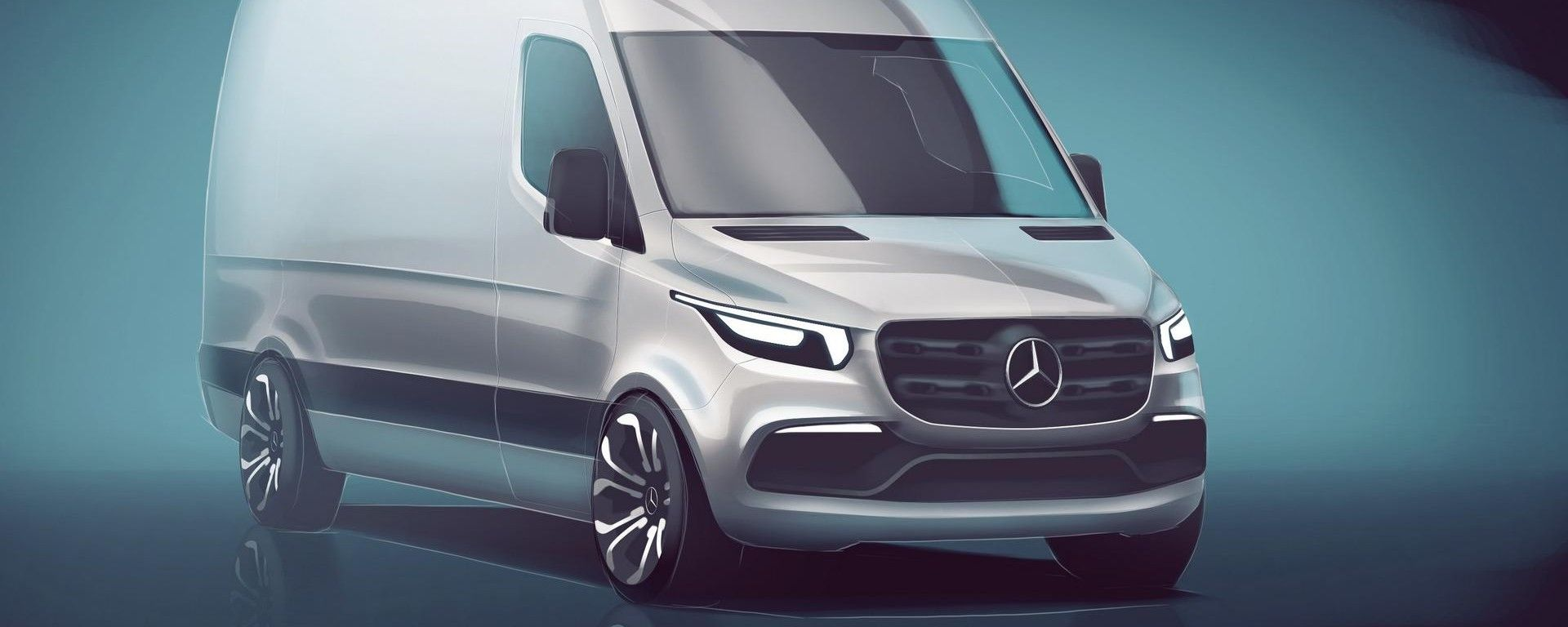 Mercedes Sprinter: prima immagine teaser della nuova generazione