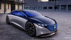 Mercedes Vision EQS, vista 3/4 anteriore
