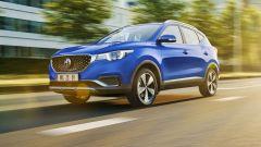 MG Motor, il SUV elettrico ZS EV: visuale di 3/4 anteriore