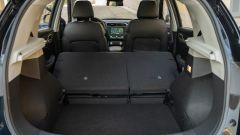 MG ZS EV: bagagliaio con i sedili abbassati