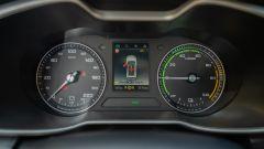 MG ZS EV: il cruscotto ibrido