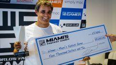 Miami's Fastest Gamer 2020: Juan Pablo Montoya durante la premiazione