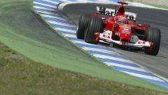 Michael Schumacher al Gran Premio di Germania 2004 con la Ferrari F2004