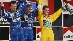 Michael Schumacher al suo primo podio, GP Messico 1992