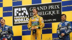 Michael Schumacher alla sua prima vittoria, GP del Belgio 1992