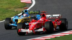 Michael Schumacher contro Fernando Alonso (2005)