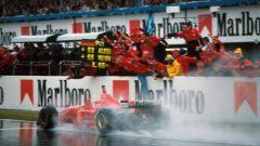 Michael Schumacher e la sua prima vittoria in Ferrari, GP di Spagna 1996