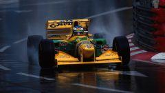 Michael Schumacher in azione con la Benetton-Ford B193 (1993)