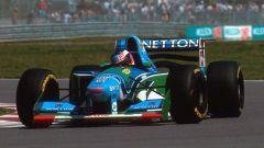 Michael Schumacher in azione con la Benetton-Ford B194 (1994)