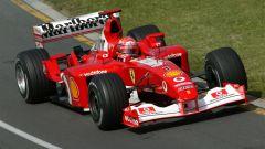 Michael Schumacher in azione con la competitiva F2003-GA