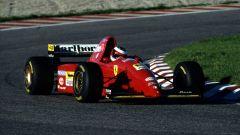 Michael Schumacher nel test del 1995 con la Ferrari 412 T2 | Foto: Girardo.com
