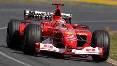 Michael Schumacher sulla Ferrari F2002