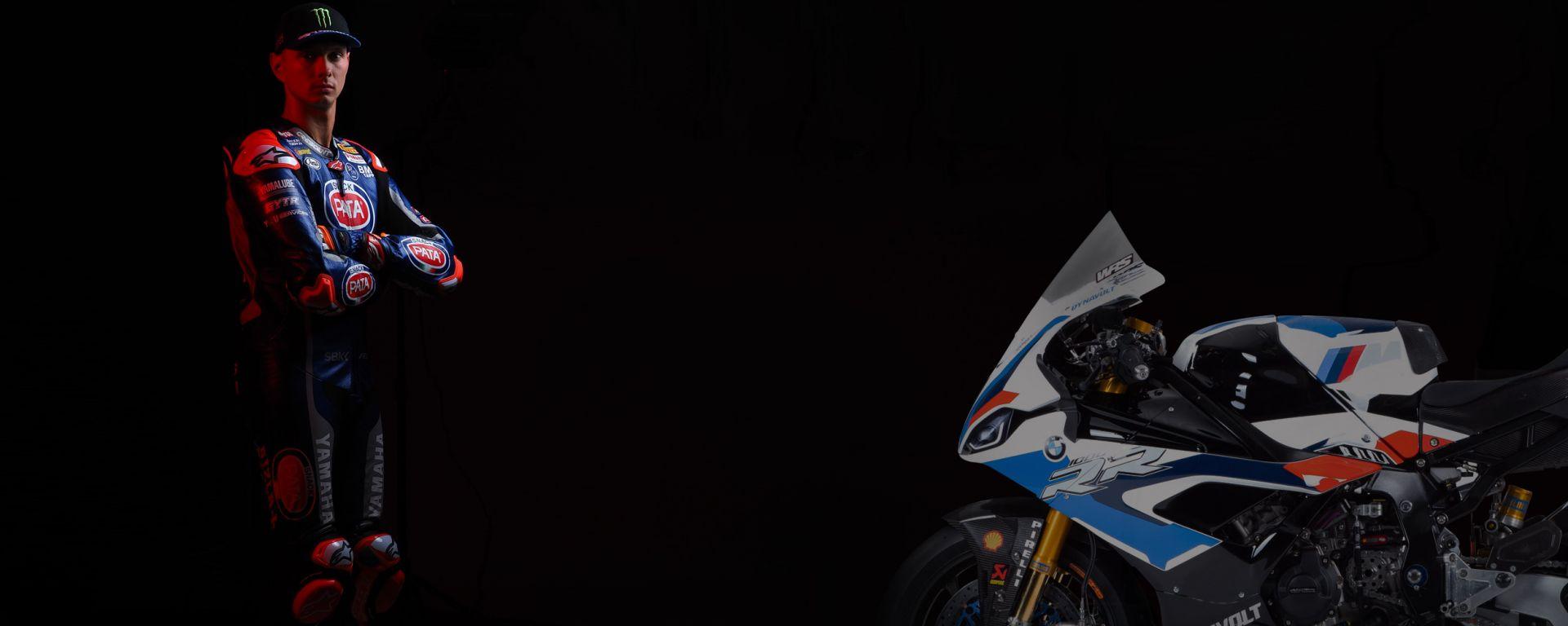 Michael Van der Mark guarda alla BMW in un fotomontaggio del sito WorldSBK