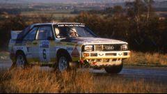 Michèle Muton al volante della sua Audi quattro