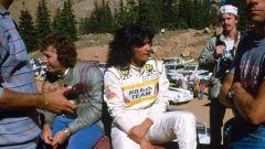 Michèle Muton in un momento di pausa alla Pikes Peak
