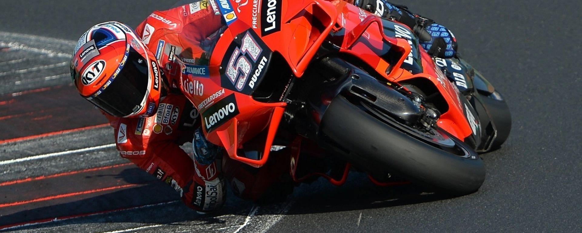 Michele Pirro in sella alla GP21 a Misano per dei test privati