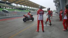 Michele Pirro prova la Ducati GP18