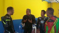 Michelin Power Days 2016 a Vallelunga: Marco Lucchinelli, Fausto Ricci e alcuni partecipanti