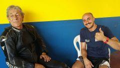 Michelin Power Days 2016: l'ex pilota Marco Lucchinelli e Mauro Salvatore, iscritto alla Power GP 600