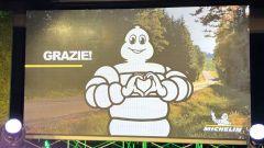 Michelin progetto carbon neutral: il Bibendum ai saluti dopo la presentazione
