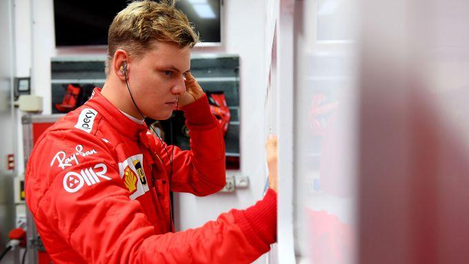 Mick Schumacher ai test di Fiorano 2021 con la Ferrari