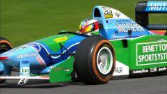 Mick Schumacher al volante della Benetton B194