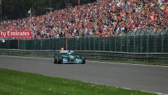 Mick Schumacher al volante della Benetton di papà Michael nel 2017