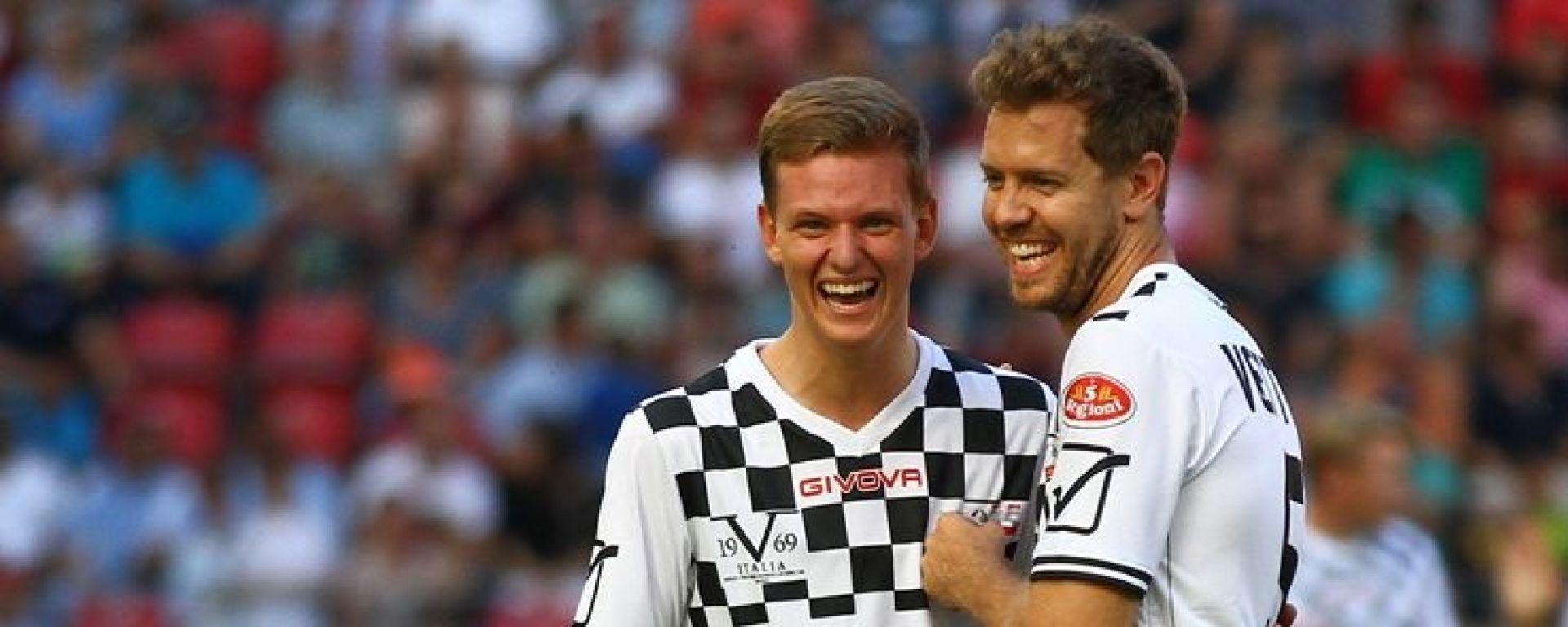 Mick Schumacher insieme a Sebastian Vettel