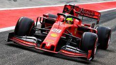 Mick Schumacher nei test con la Ferrari SF90 a Bacellona 2019