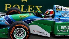 Mick Schumacher nel giro d'onore a Spa