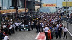 Mick Schumacher scende sulla pista di Spa