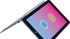 Microtech e-tab Pro con tastiera e-keyboard: il menu per scegliere Windows 10 o Android