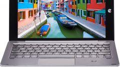 Microtech e-tab Pro con tastiera: vista frontale