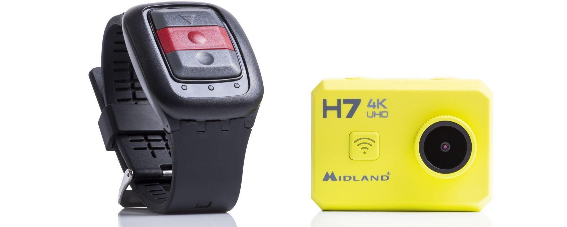 Midland H7: l'action cam con il suo telecomando