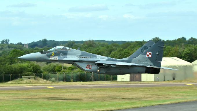 Mig 29 Fulcrum dell'aviazione polacca
