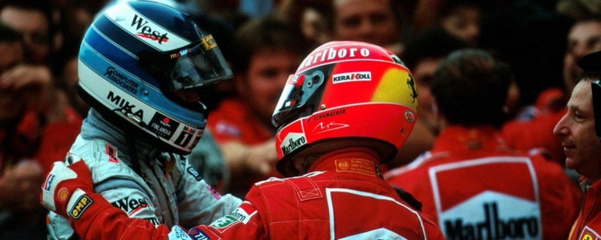 Mika Hakkinen e Michael Schumacher