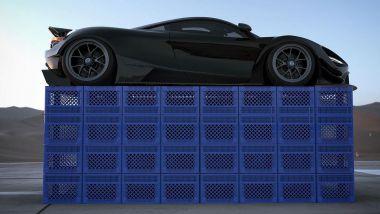 Milk Crate Challenge su Tik Tok: l'esperimento dell'influencer con la sua McLaren